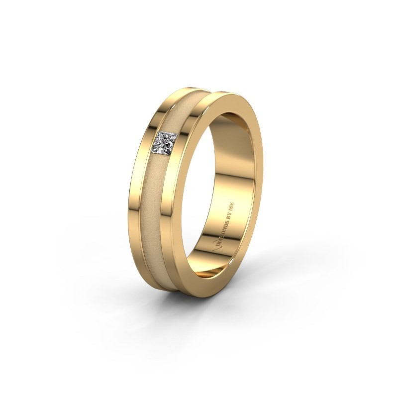 Trouwring WH2001L 585 goud lab-grown diamant ±5x2 mm