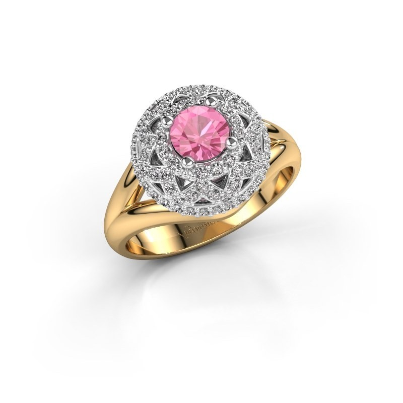 Ring Leonora 585 gold pink sapphire 5 mm