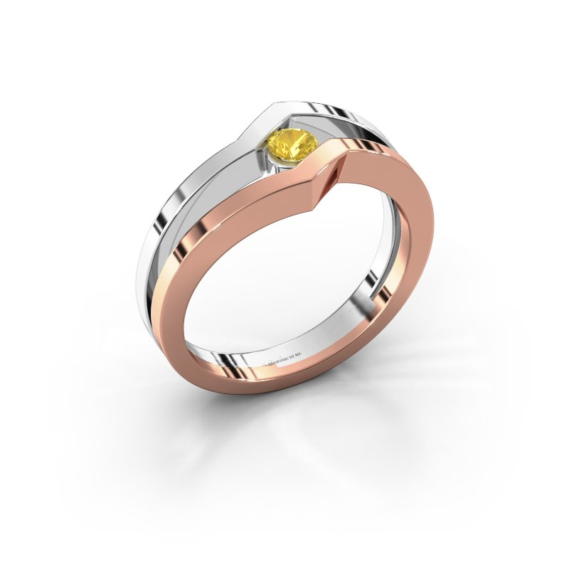 Ring Elize 585 rose gold yellow sapphire 3.4 mm