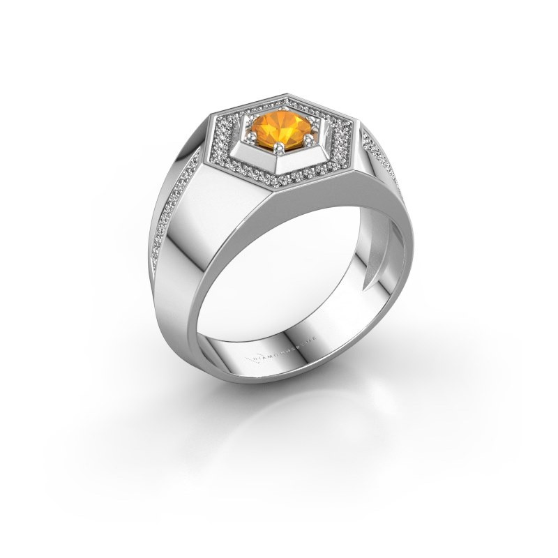 Men's ring Sjoerd 925 silver citrin 4.7 mm