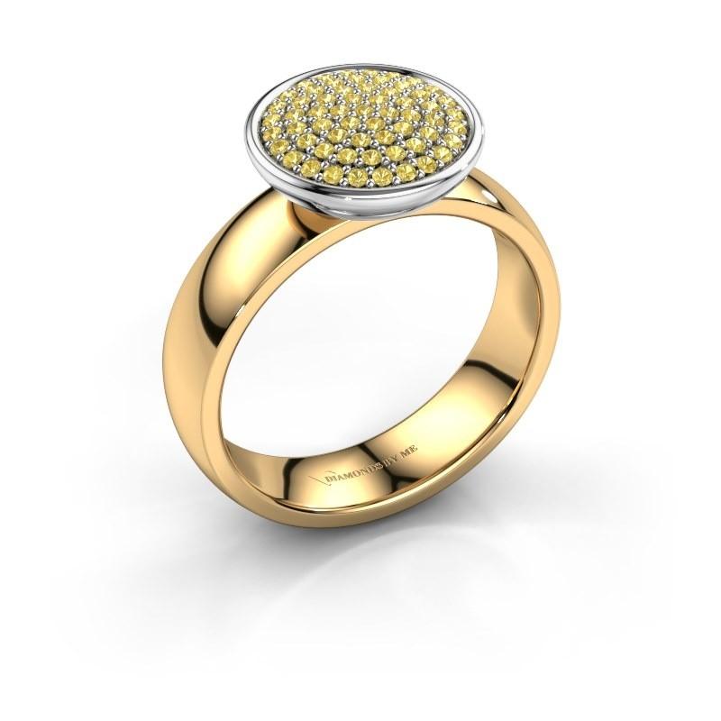 Ring Tilda 585 goud gele saffier 1 mm
