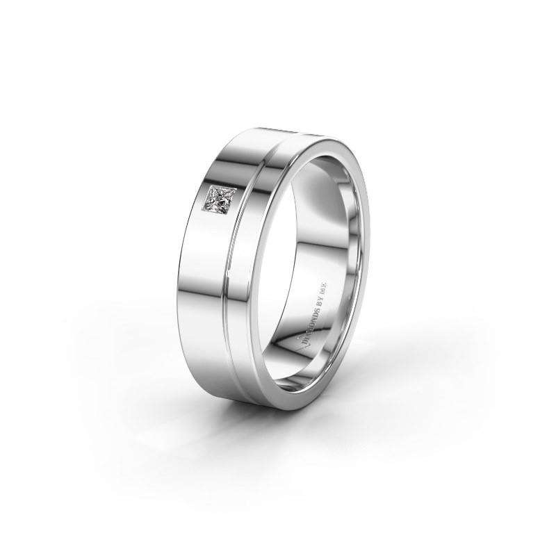 Trouwring WH0301L16APSQ 950 platina diamant ±6x1.7 mm