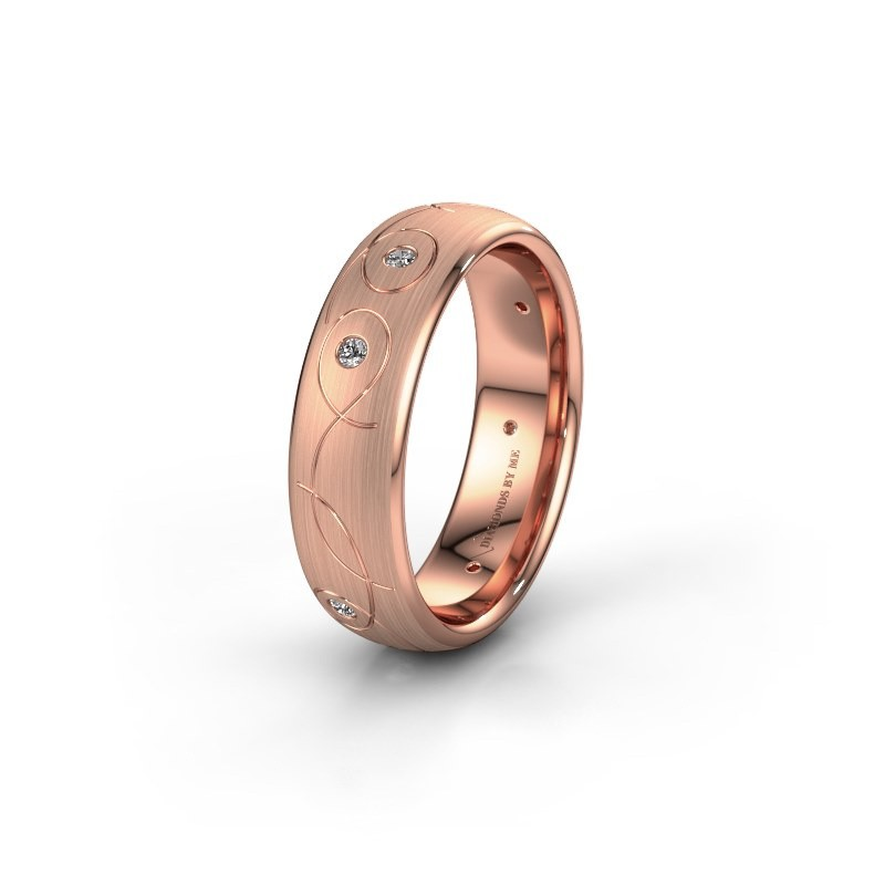Trouwring WH2068L36BM 375 rosé goud diamant ±6x2 mm
