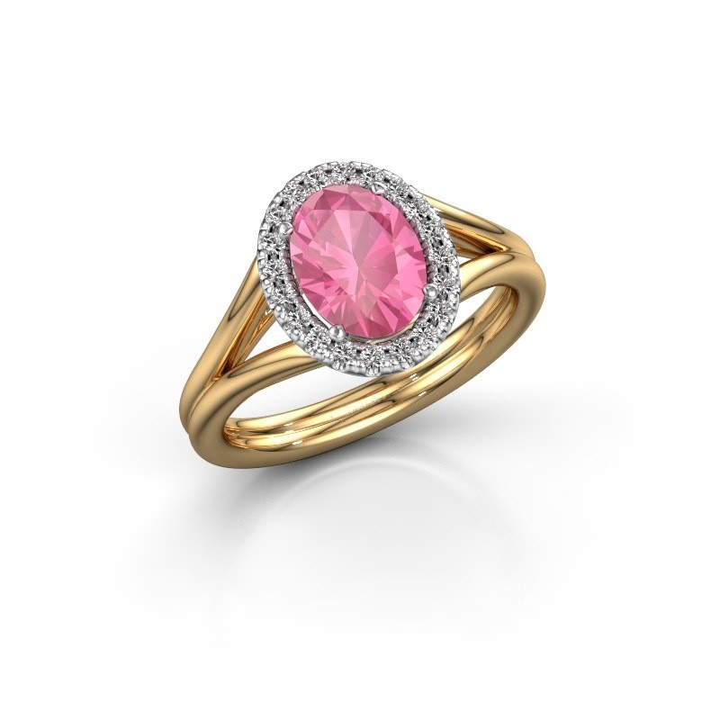 Verlobungsring Rachele 1 585 Gold Pink Saphir 8x6 mm