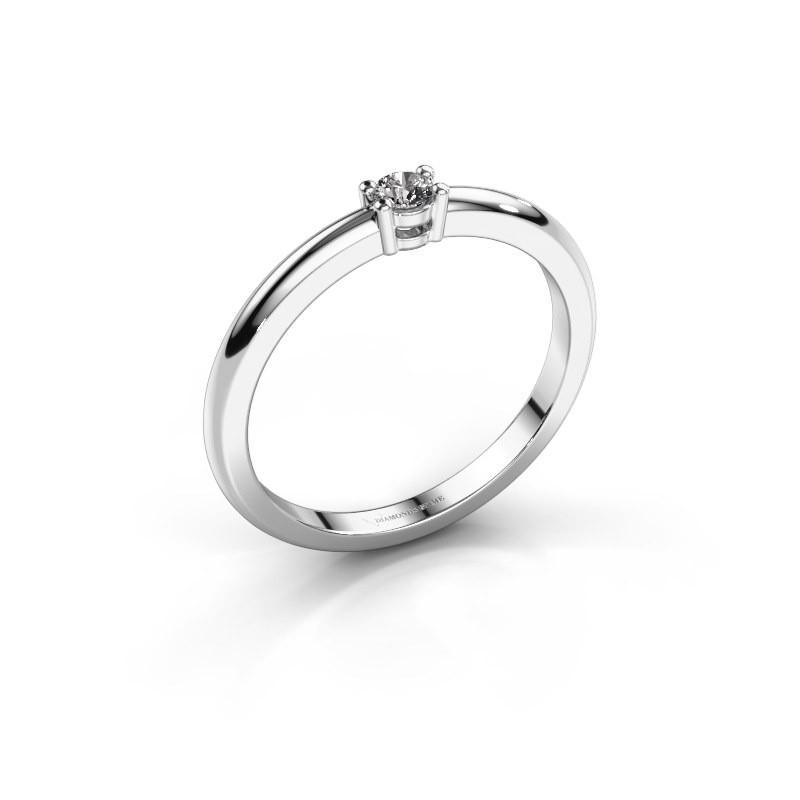 Verlovingsring Michelle 1 585 witgoud lab-grown diamant 0.08 crt