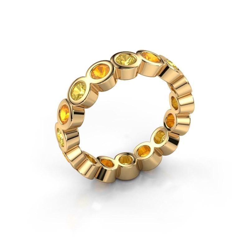 Vorsteckring Edwina 3 375 Gold Gelb Saphir 3 mm