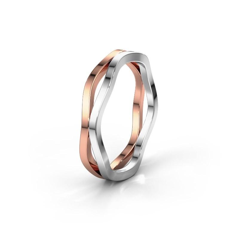 Wedding ring WH2122M 585 rose gold ±5x1.7 mm