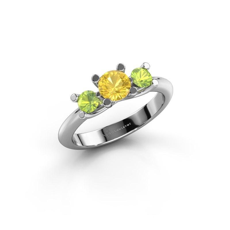 Ring Mirthe 950 platinum yellow sapphire 5 mm