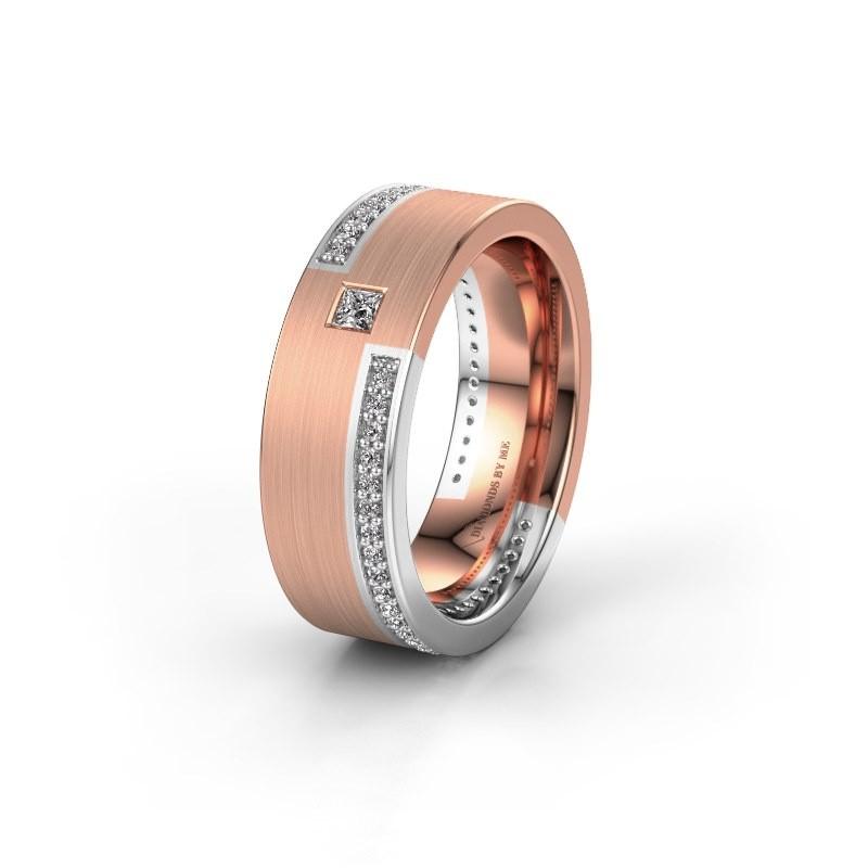 Trouwring WH2048L17DM 585 rosé goud diamant ±7x2.4 mm