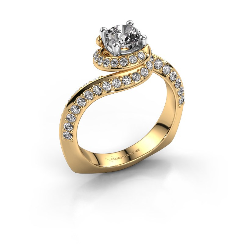 Engagement ring Sienna 585 gold zirconia 5 mm