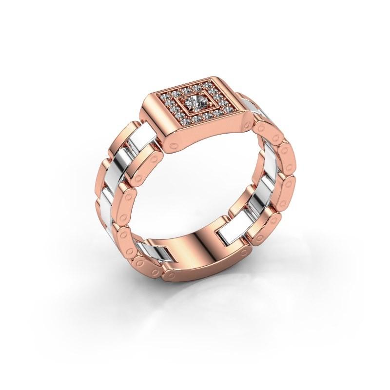 Men's ring Giel 585 rose gold diamond 0.20 crt