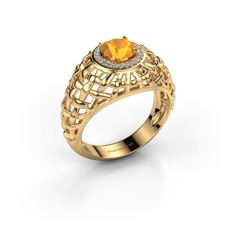 Pinky Ring Jens 585 Gold Citrin 6.5 mm