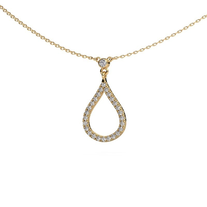 Collier Alona 375 or jaune diamant synthétique 0.29 crt