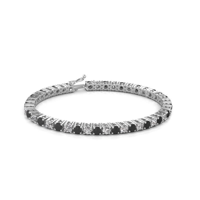 Tennis bracelet Karin 375 white gold black diamond 11.85 crt