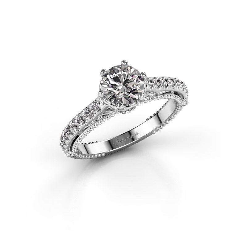 Verlovingsring Venita 950 platina lab-grown diamant 1.345 crt