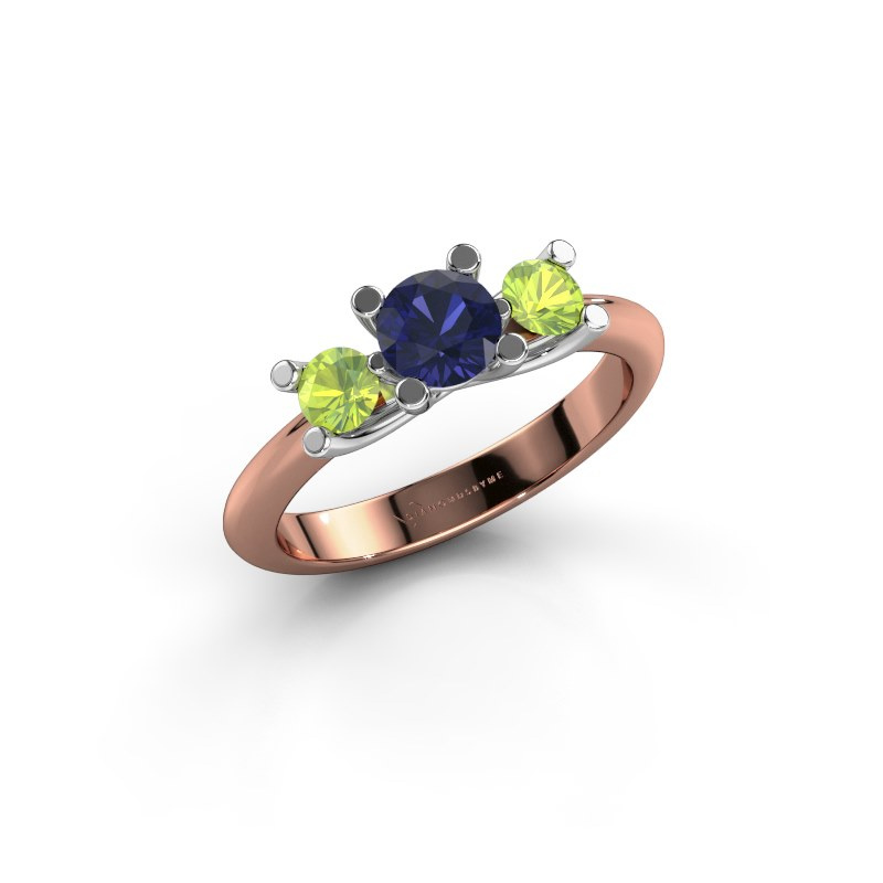 Ring Mirthe 585 rose gold sapphire 5 mm