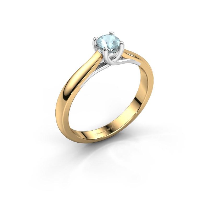 Engagement ring Mia 1 585 gold aquamarine 4 mm