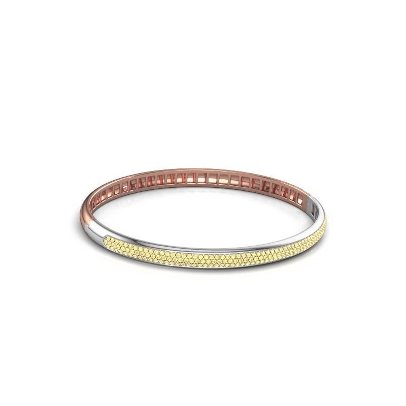 Armband Emely 5mm 585 rosé goud gele saffier 1.1 mm