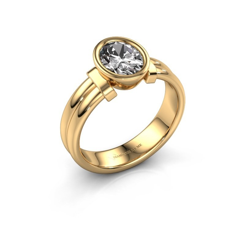Ring Gerda 585 gold zirconia 8x6 mm