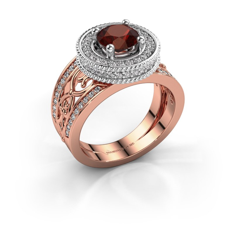 Ring Joy 585 rose gold garnet 6.5 mm