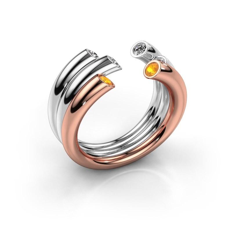 Ring Noelle 585 rose gold citrin 2.4 mm