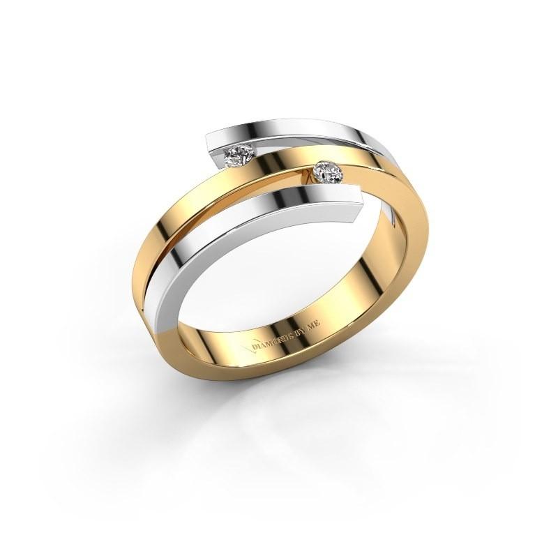 Ring Roxane 585 goud zirkonia 2 mm