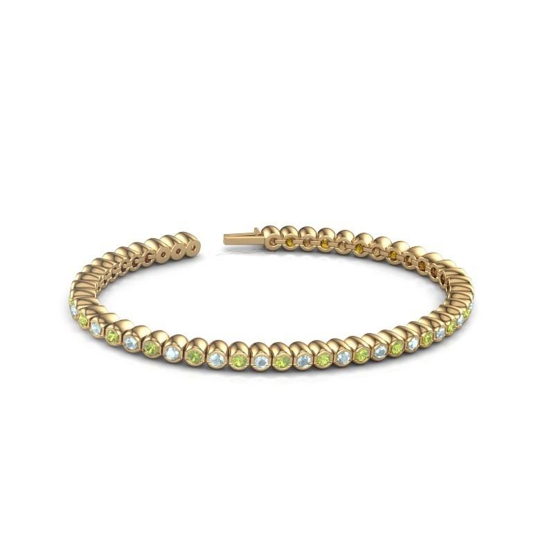 Tennisarmband Patrica 375 goud peridoot 2.4 mm