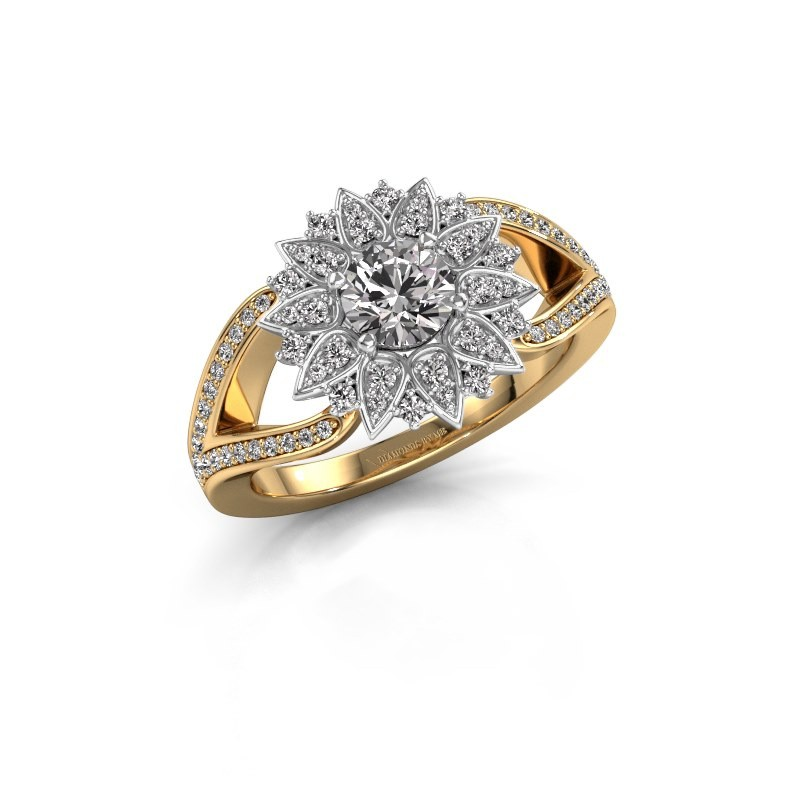 Aanzoeksring Chasidy 2 585 goud diamant 0.50 crt