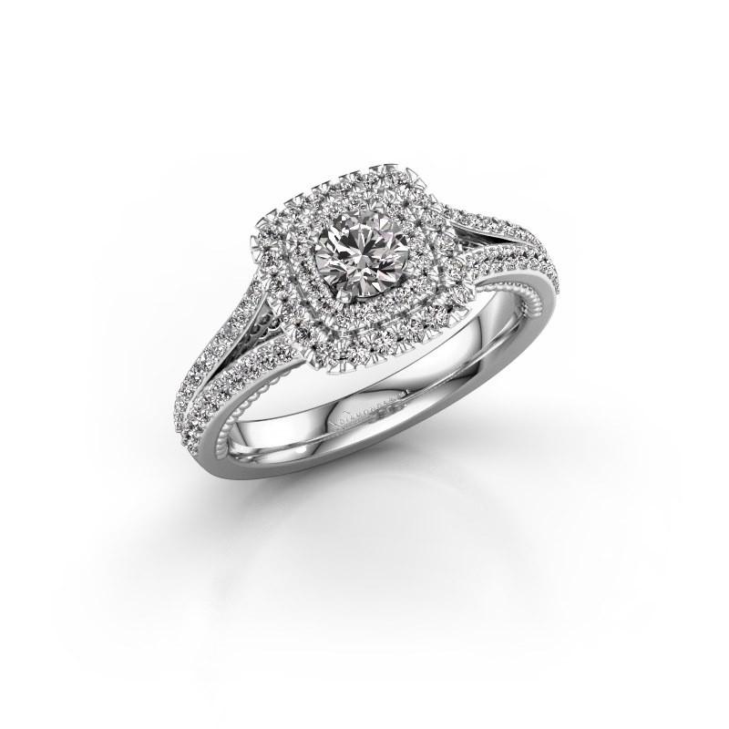 Verlobungsring Annette 950 Platin Diamant 0.872 crt
