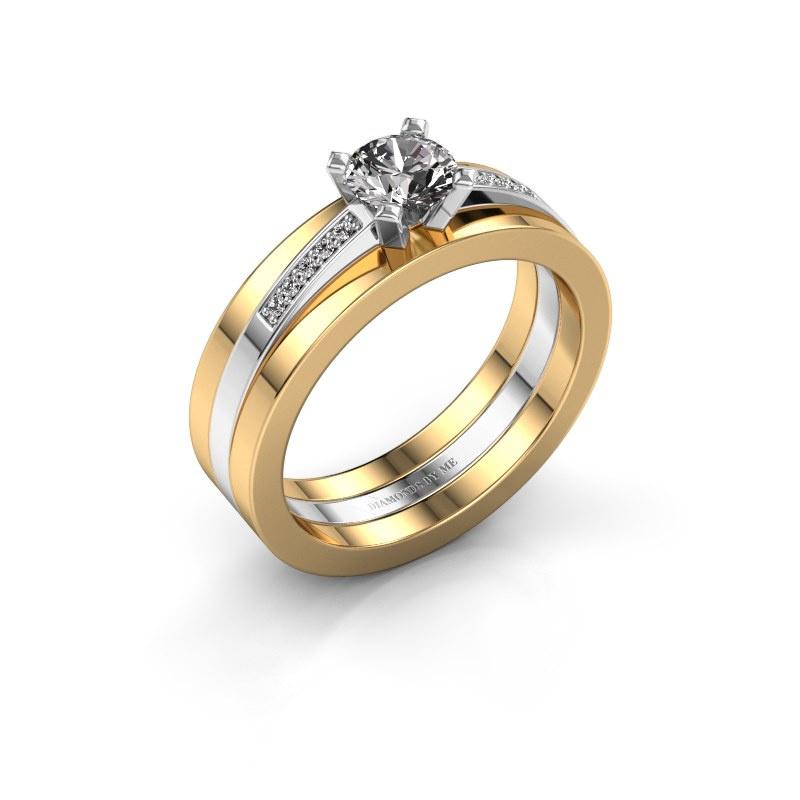 Verlobungsring Celeste 585 Weißgold Diamant 0.55 crt