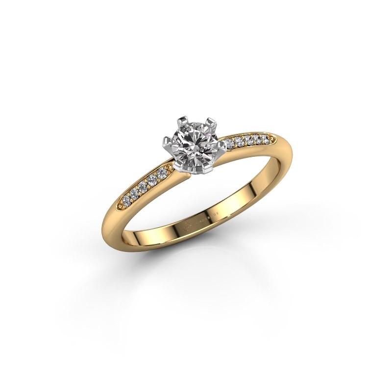 Verlovingsring Tiffy 2 585 goud diamant 0.30 crt