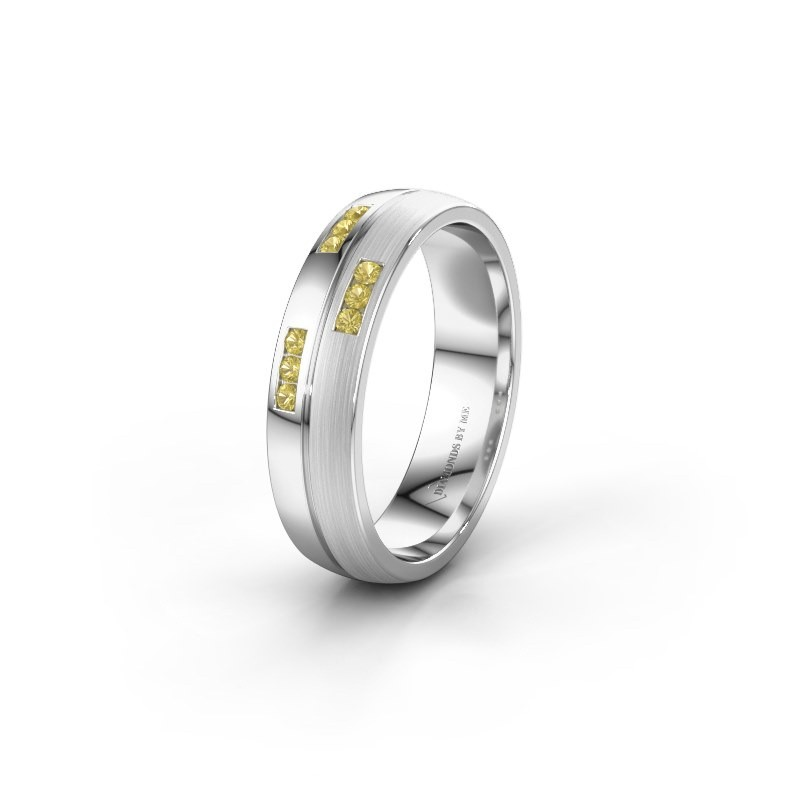 Wedding ring WH0206L25APM 925 silver yellow sapphire ±0.20x0.07 in