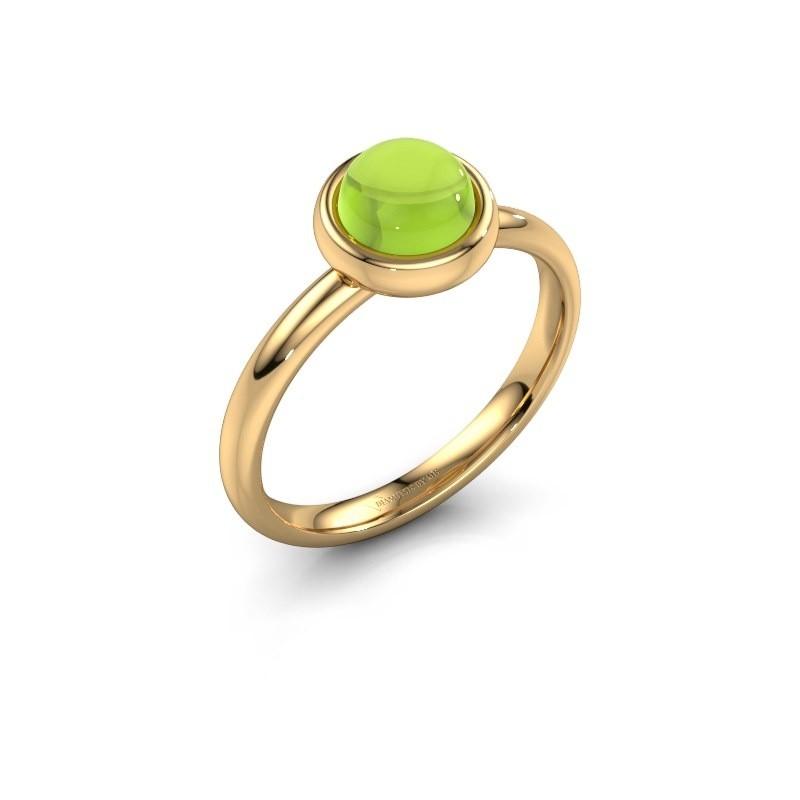 Ring Blossom 585 goud peridoot 6 mm