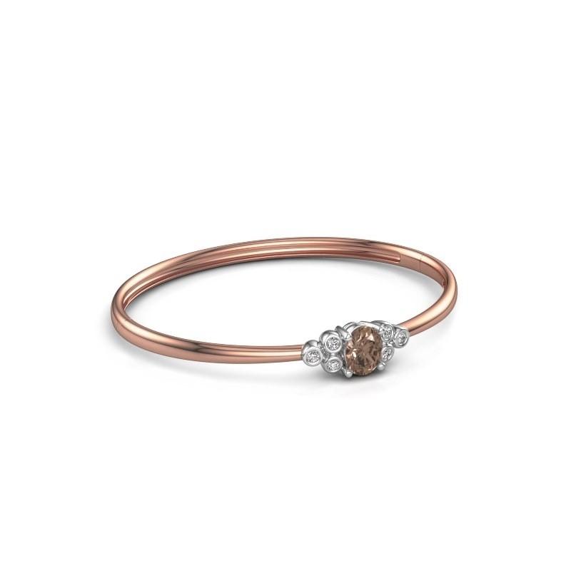 Slavenarmband Lucy 585 rosé goud bruine diamant 1.27 crt