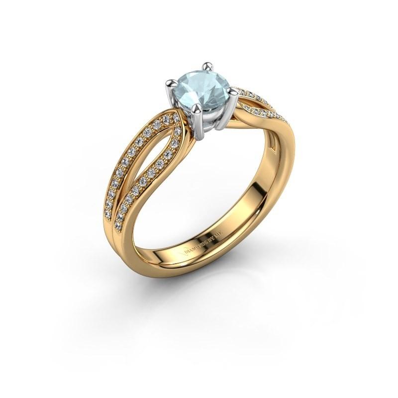 Verlobungsring Antonia 2 585 Gold Aquamarin 5 mm