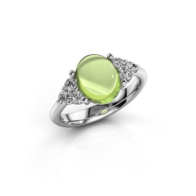 Ring Clarice 925 zilver peridoot 10x8 mm