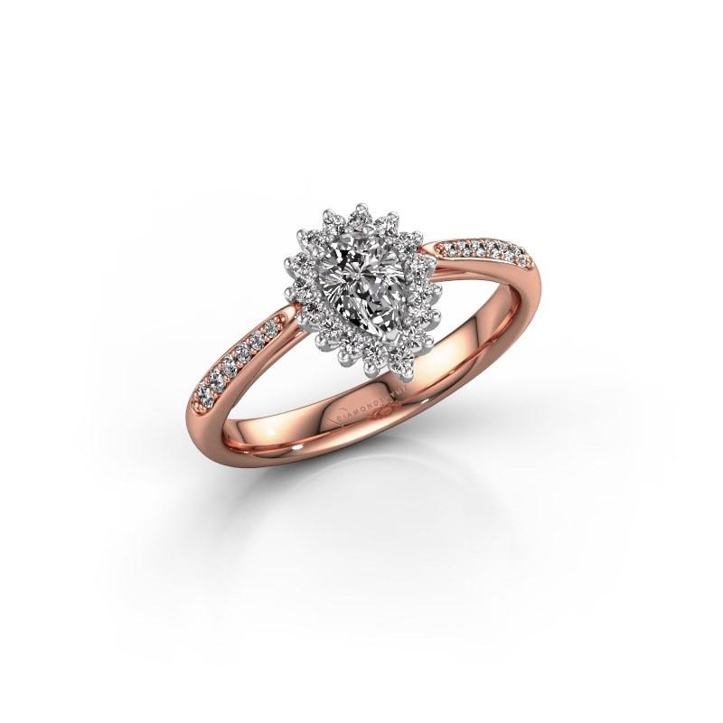 Engagement ring Tilly per 2 585 rose gold lab-grown diamond 0.45 crt