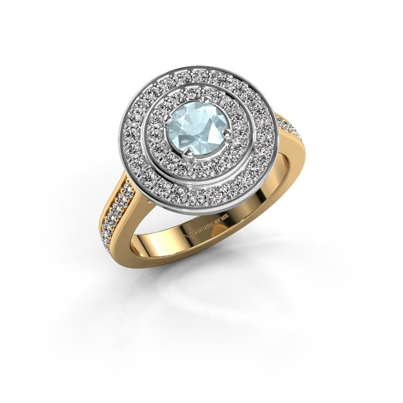 Ring Alecia 2 585 goud aquamarijn 5 mm