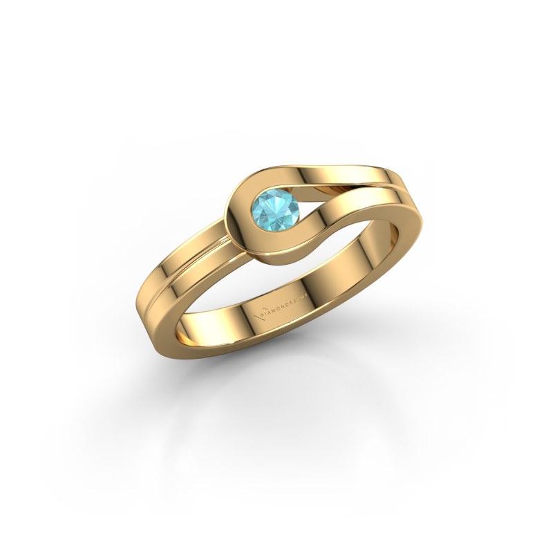 Ring Kiki 585 gold blue topaz 3 mm