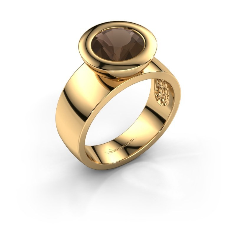 Ring Maxime 585 goud rookkwarts 8 mm