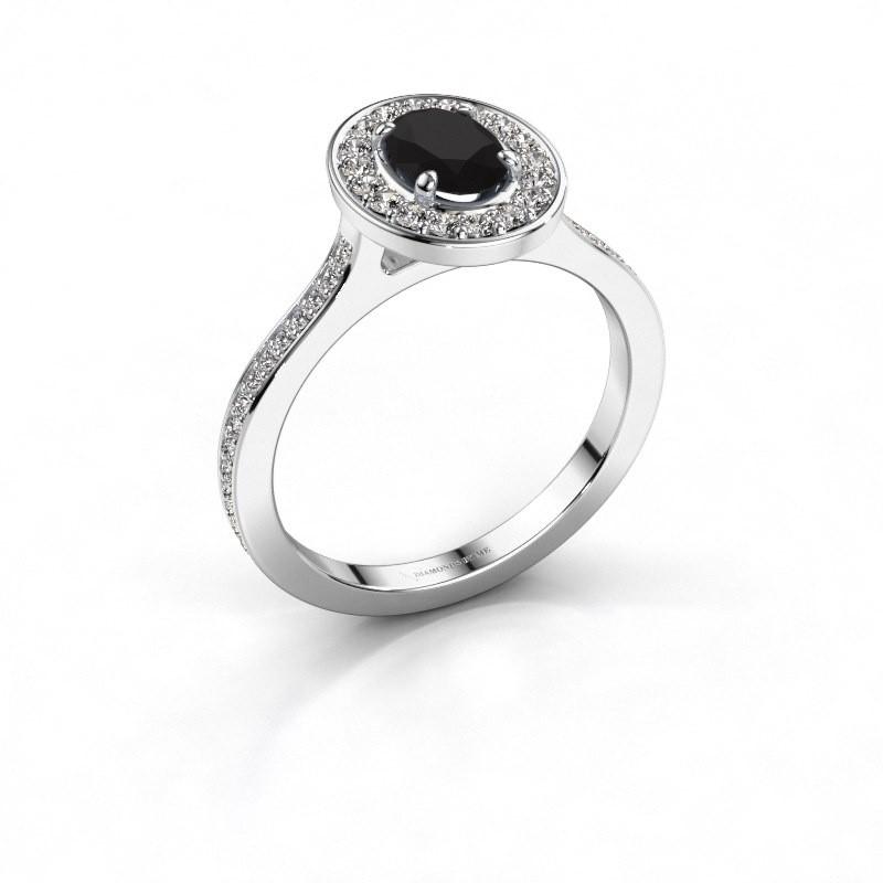 Ring Madelon 2 950 platina zwarte diamant 1.320 crt