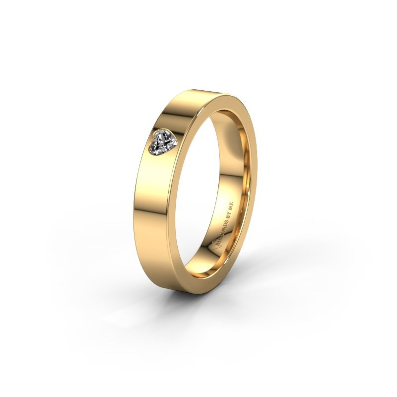Trouwring WH0101L14BPHRT 375 goud diamant ±4x2 mm