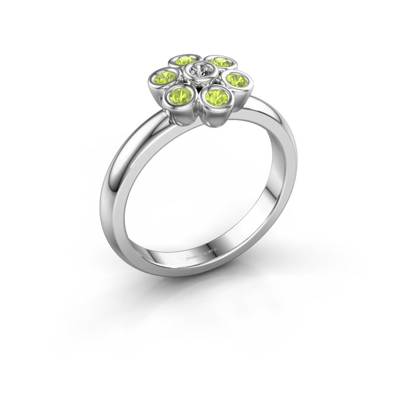 Ring Aaliyah 925 silver zirconia 2 mm