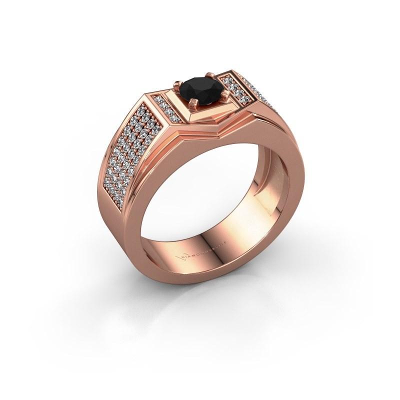 Men's ring Marcel 375 rose gold black diamond 1.14 crt