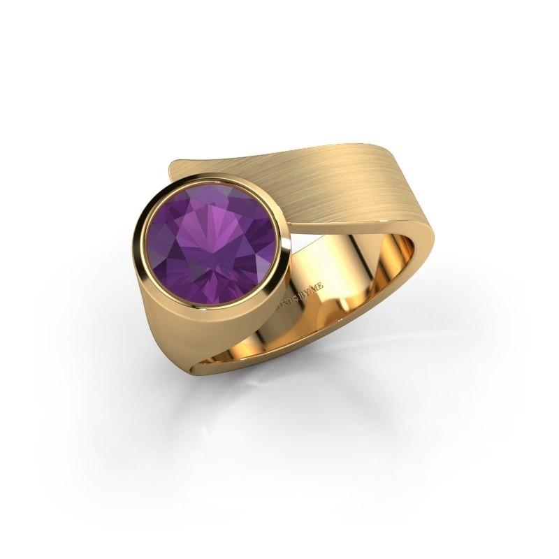 Ring Nakia 585 goud amethist 8 mm
