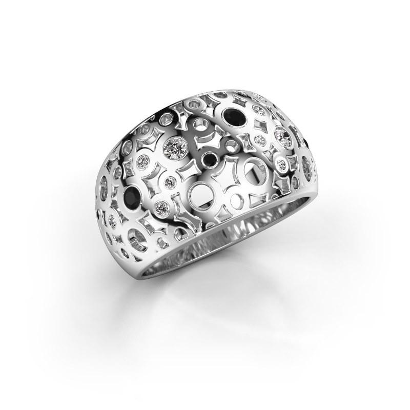 Ring Jaylinn 2 585 witgoud zirkonia 2.2 mm