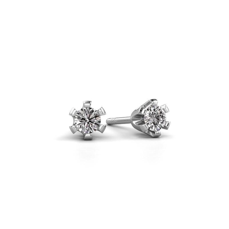 Oorstekers Shana express 585 witgoud diamant 0.25 crt