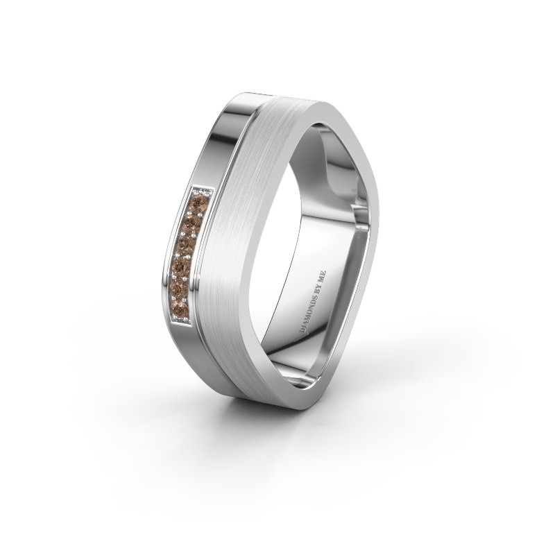 Alliance WH6030L16A 925 argent diamant brun ±6x1.7 mm