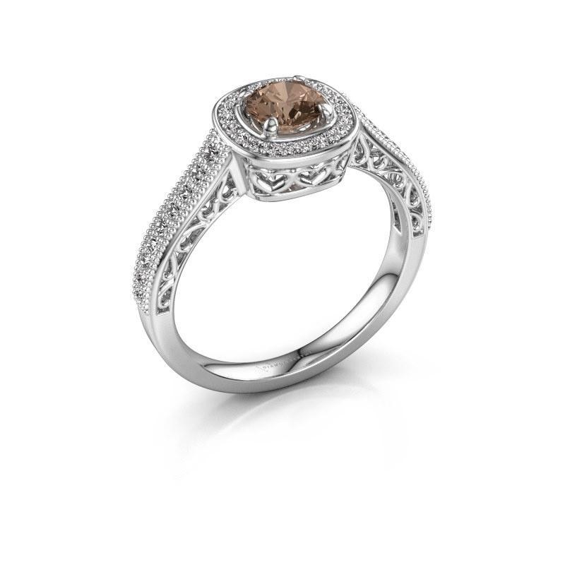 Bague de fiançailles Candi 925 argent diamant brun 0.775 crt