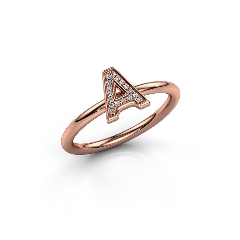 Bague Initial ring 070 375 or rose